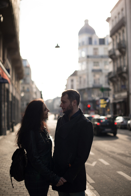 Couple photo session in Brussels
