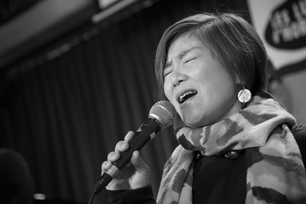Maki's recording at Jazz Station